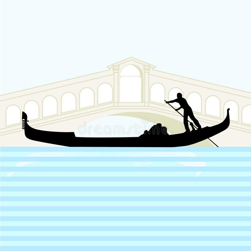 长平底船威尼斯 库存例证