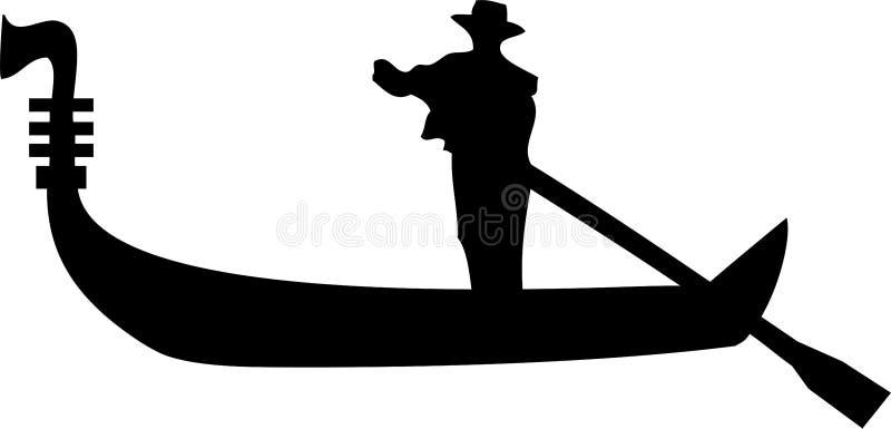 长平底船威尼斯 皇族释放例证
