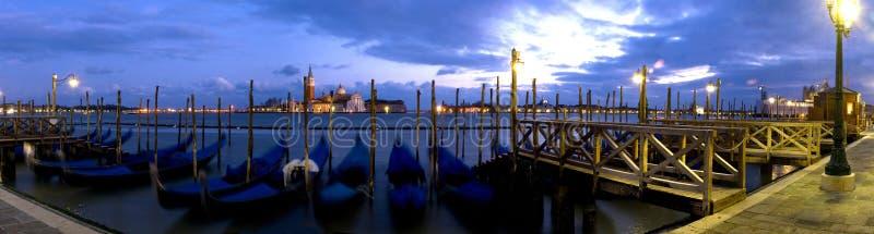 长平底船威尼斯 免版税库存图片