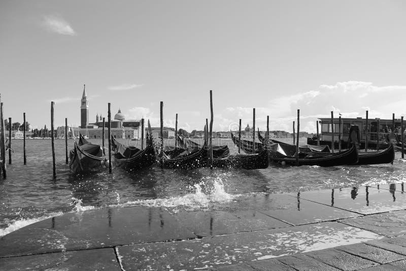 长平底船的威尼斯 库存照片