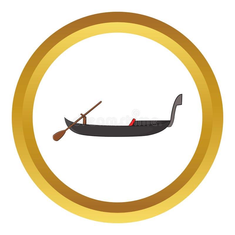 长平底船象 向量例证