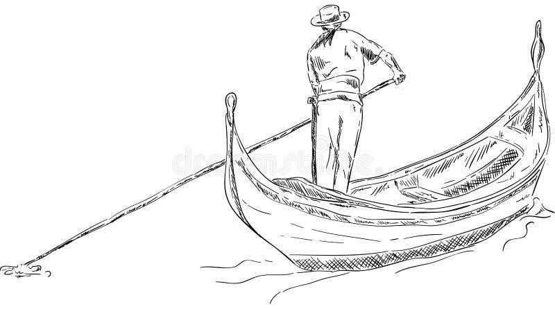 长平底船 向量例证