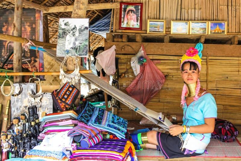 长收缩的Padaung部落 免版税库存图片