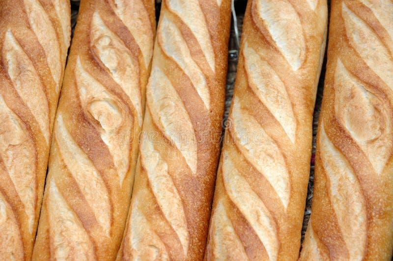 长方形宝石在法语上添面包 图库摄影