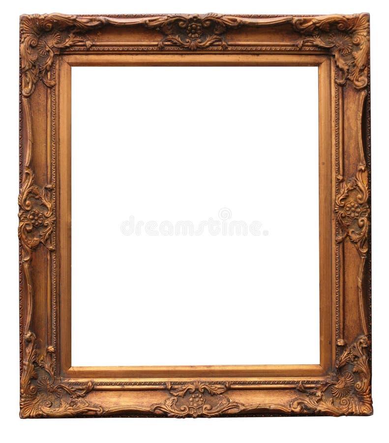 长方形宝石框架白色 库存图片