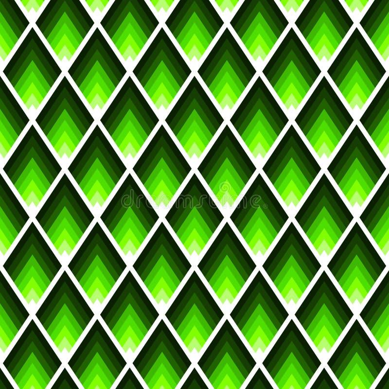 长方形或锭剂无缝的样式在时髦霓虹石灰颜色 库存例证