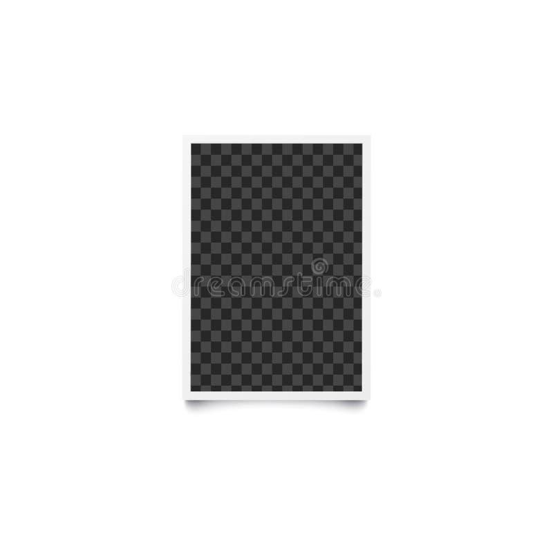 长方形方格的空的模板和相框在现实样式 库存例证