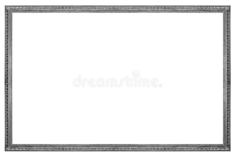 长方形木银色画框 免版税库存照片