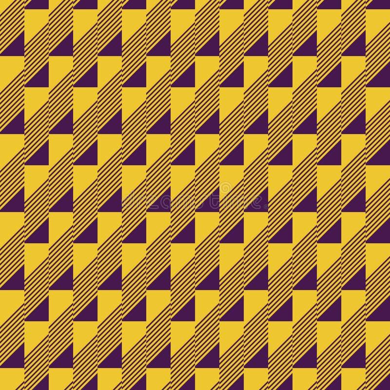 长方形瓦片的无缝的样式 皇族释放例证