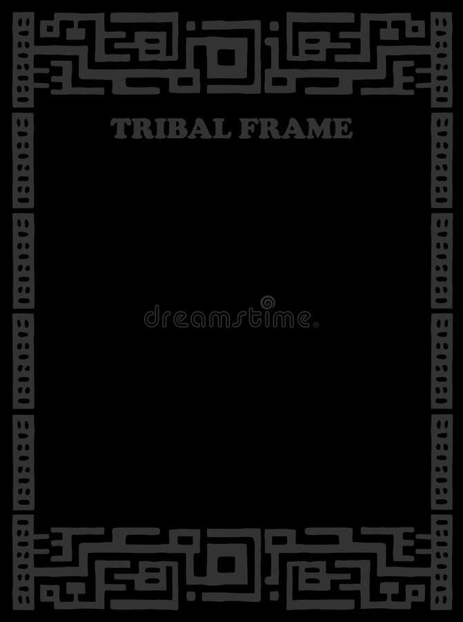 长方形的框架 种族和部族主题 库存例证