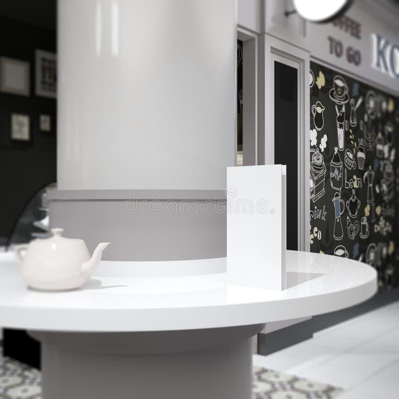 长方形空的咖啡馆菜单大模型 向量例证