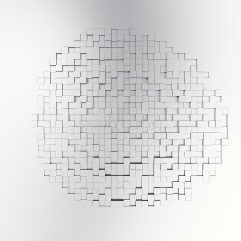 长方形立方体抽象bacgkround 3d例证 向量例证