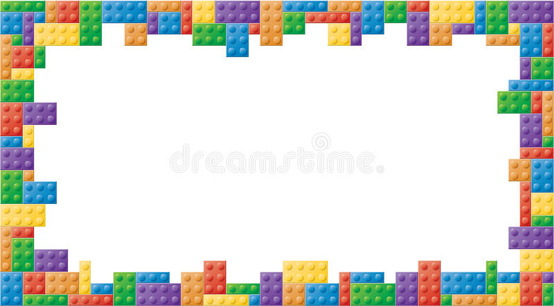 长方形色的块画框 皇族释放例证