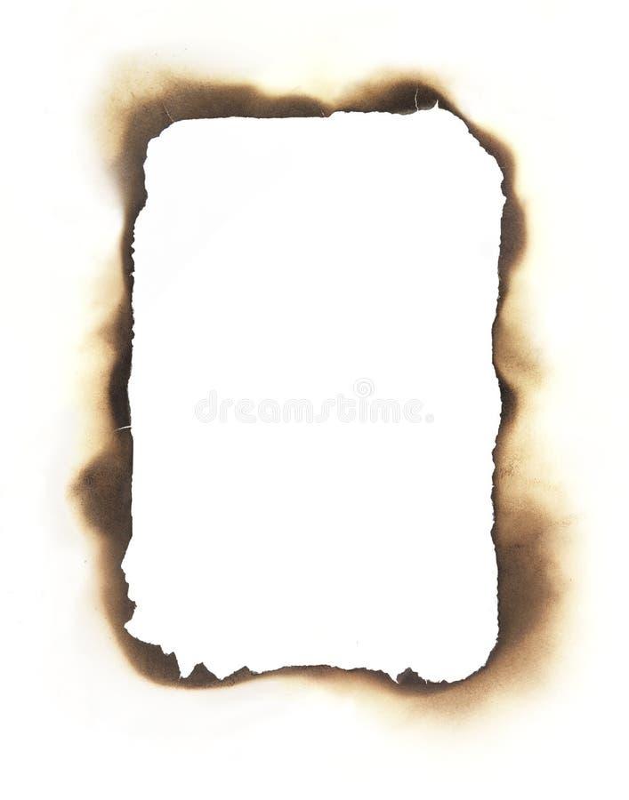 长方形被烧的边缘框架 库存照片