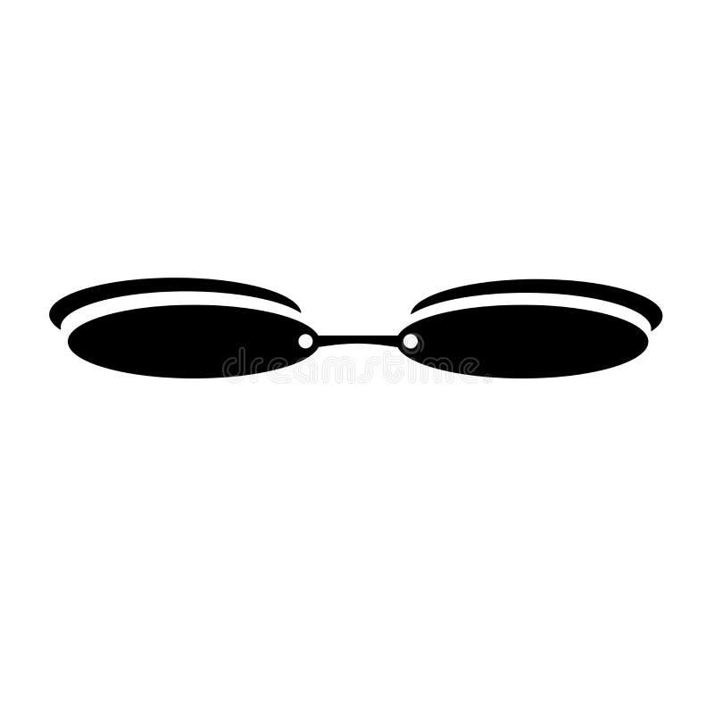 长方形镜片框架象在白色背景隔绝的传染媒介标志和标志,长方形镜片框架商标概念 库存例证