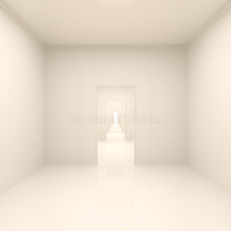 长期抽象走廊 库存例证