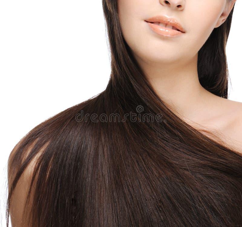 长期美丽的头发 免版税图库摄影