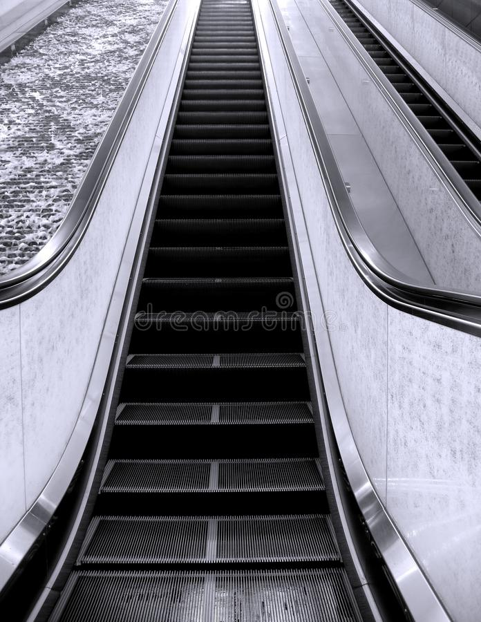 长期自动扶梯 免版税图库摄影