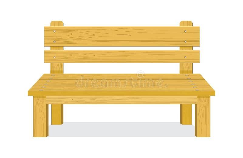 长木凳传染媒介例证 向量例证