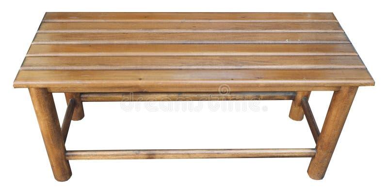 长木凳椅子被隔绝在白色 免版税库存图片