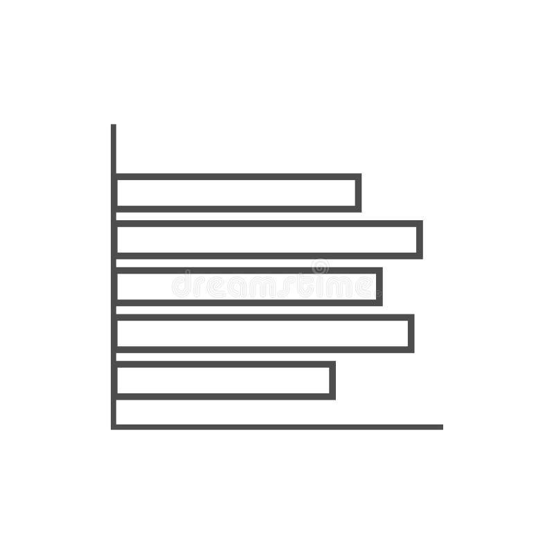 长条图象 网络安全的元素流动概念和网应用程序象的 网站设计和发展的稀薄的线象 向量例证