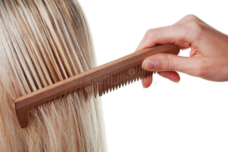 长梳子的头发 图库摄影