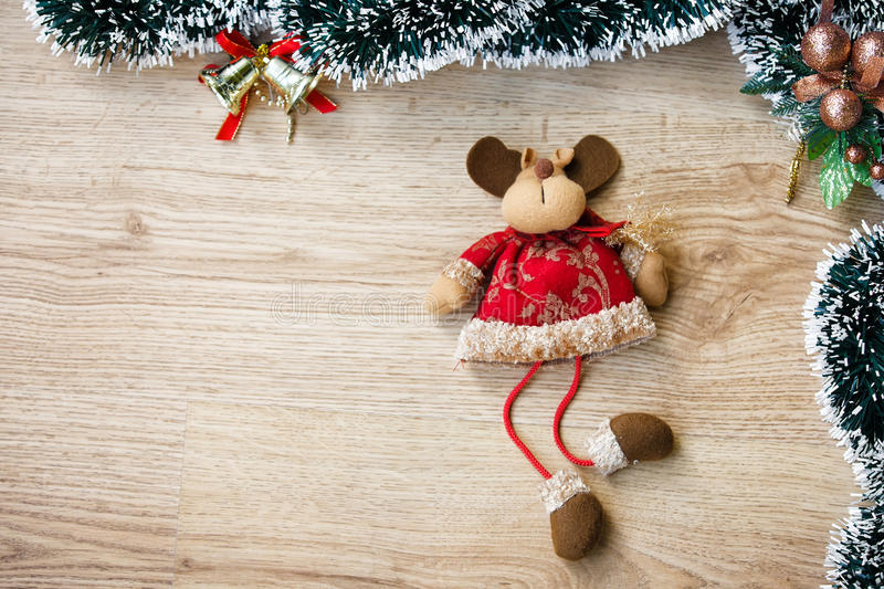 长毛绒圣诞节驯鹿 免版税库存图片