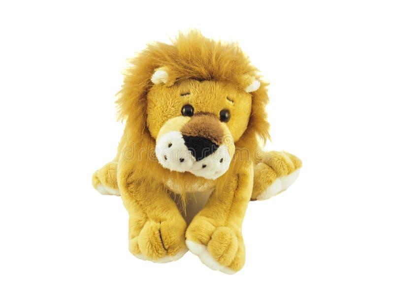 长毛绒狮子玩具 库存图片