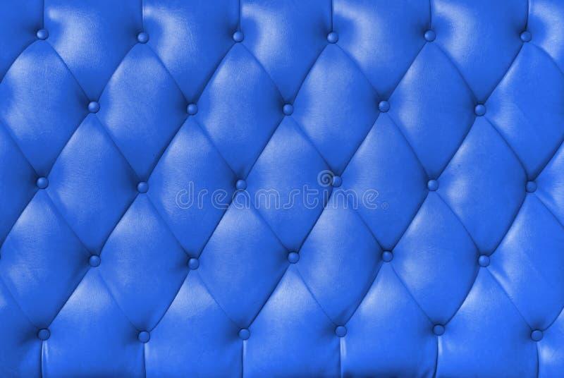 长毛绒蓝色皮革 免版税库存图片
