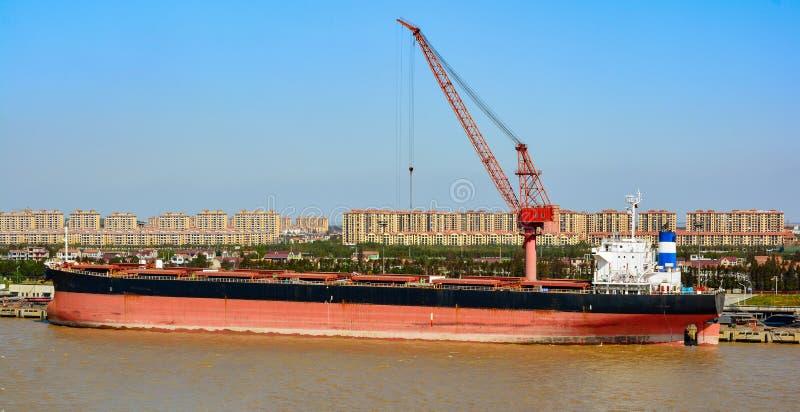 长江的,上海,中国长兴海岛 库存照片