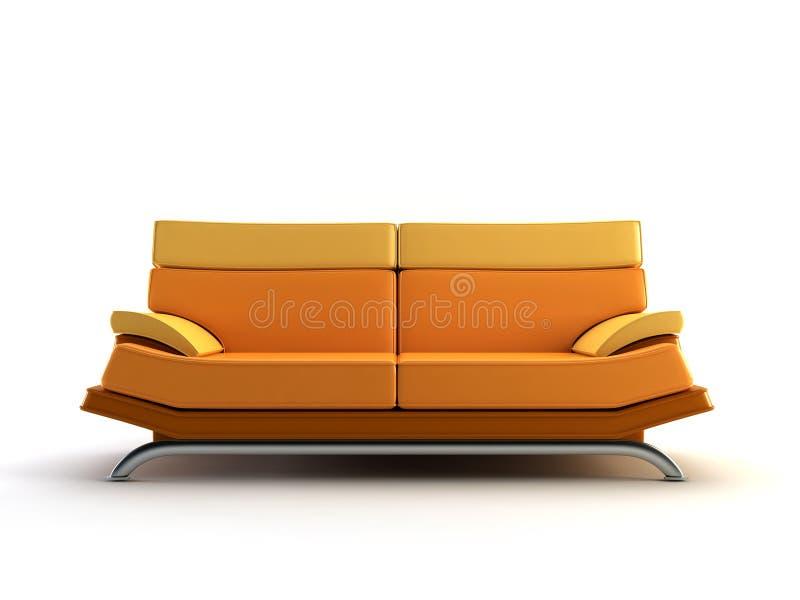 长沙发现代桔子 库存例证