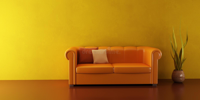 长沙发皮革休息室空间