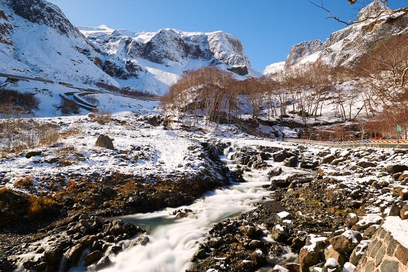 长白山河水  库存照片