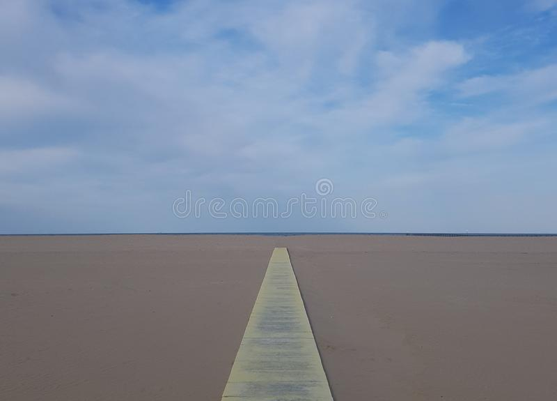 长的光滑的海滩在意大利 免版税图库摄影