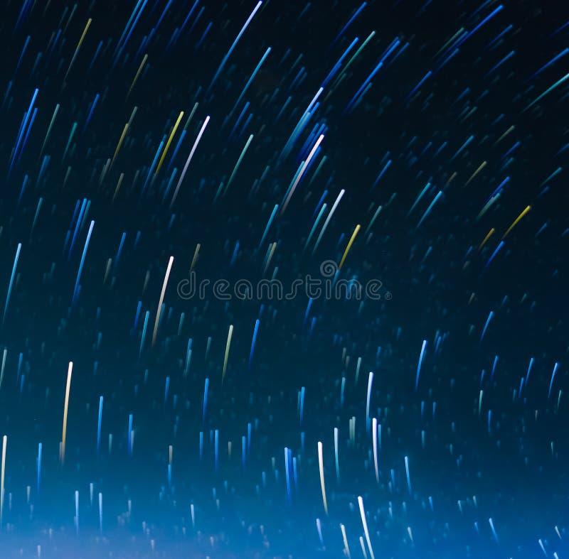 长的曝光星足迹的图象 免版税库存图片