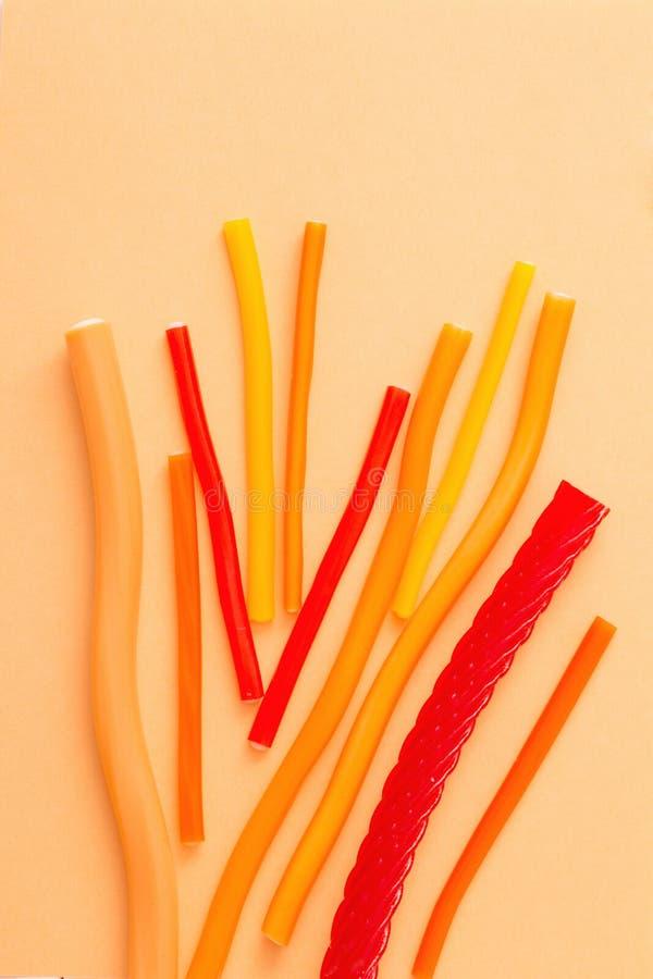 长的耐嚼的果冻甜点糖果 图库摄影