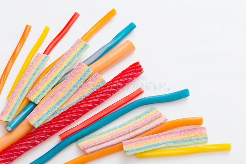 长的耐嚼的果冻甜点糖果 免版税库存图片
