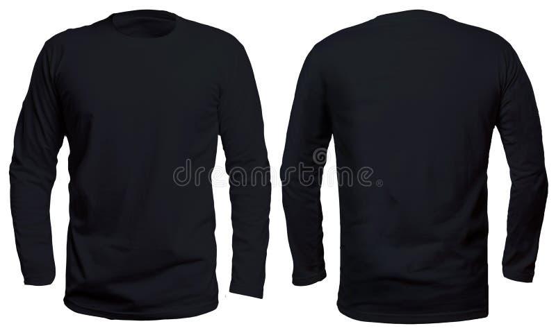 黑长的袖子衬衣嘲笑 免版税库存照片