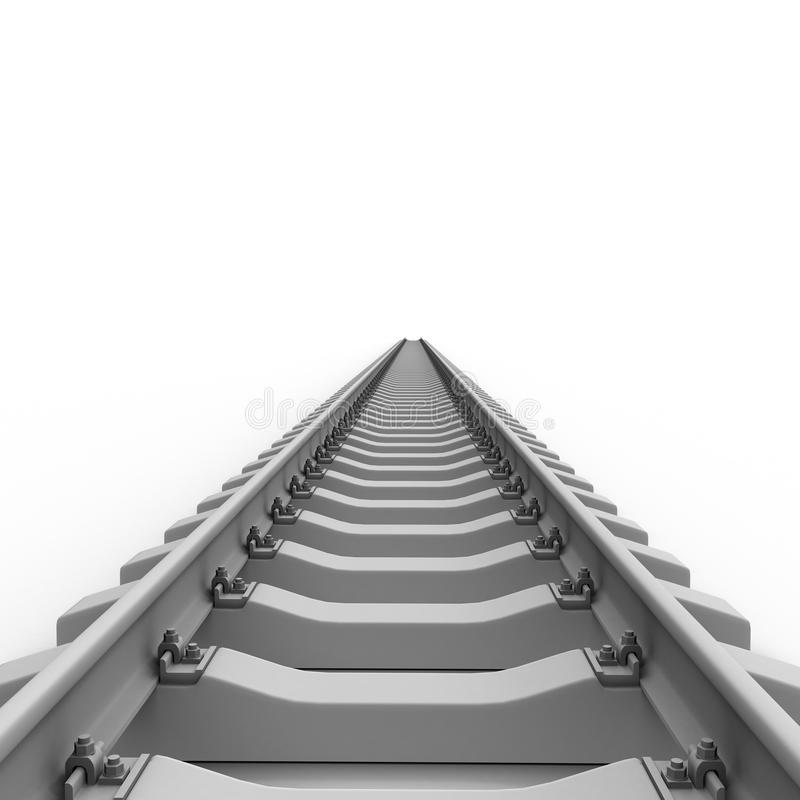 长的铁路运输 向量例证