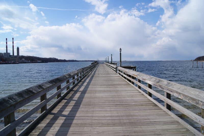 长码头的海岛 免版税库存照片