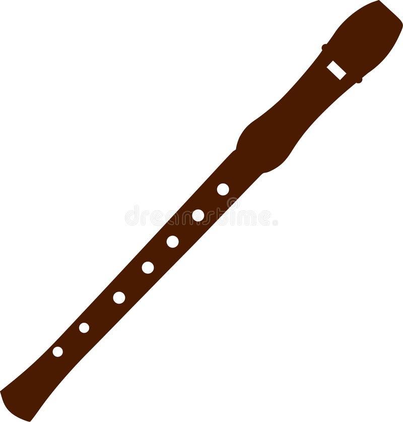 长笛木头音乐 皇族释放例证