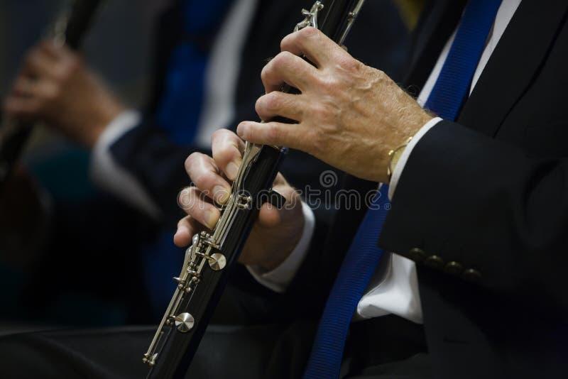 长笛演奏家人 免版税库存照片