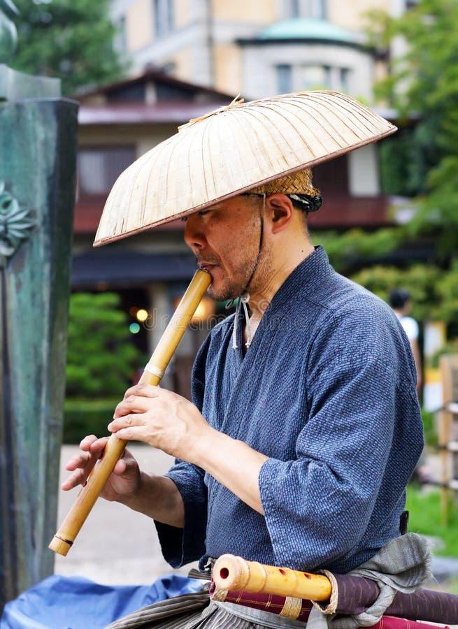 长笛演奏家,日本 免版税库存图片
