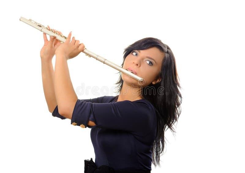 长笛演奏家 库存照片
