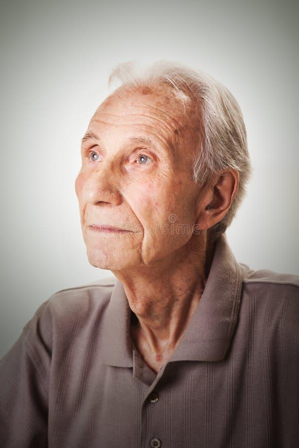 年长老人画象  图库摄影