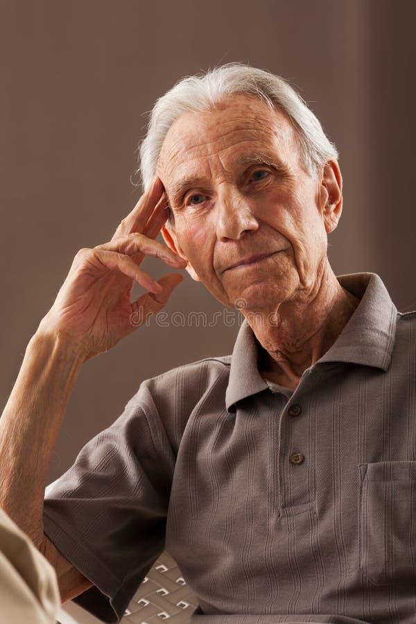 年长老人画象 库存照片