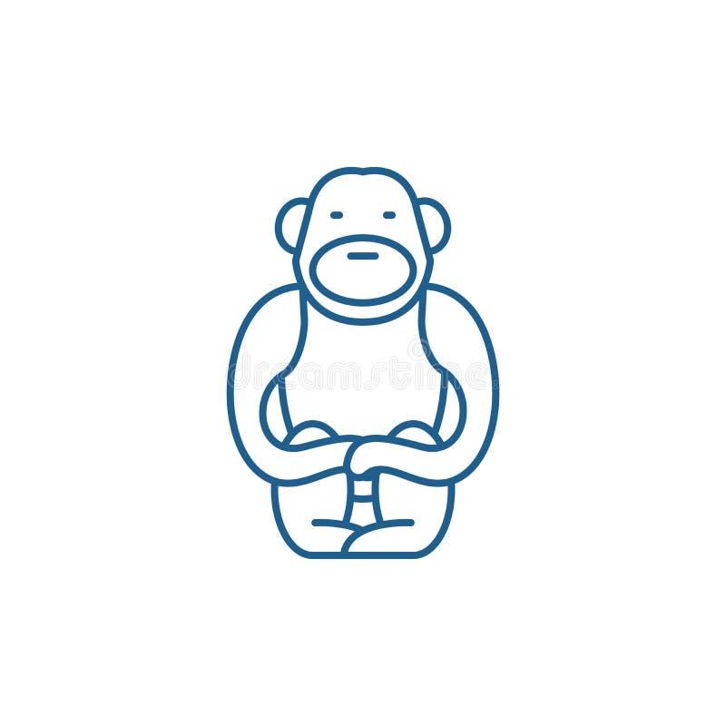 长臂猿线象概念 长臂猿平的传染媒介标志,标志,概述例证 皇族释放例证