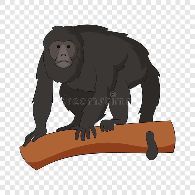 长臂猿象,动画片样式 皇族释放例证