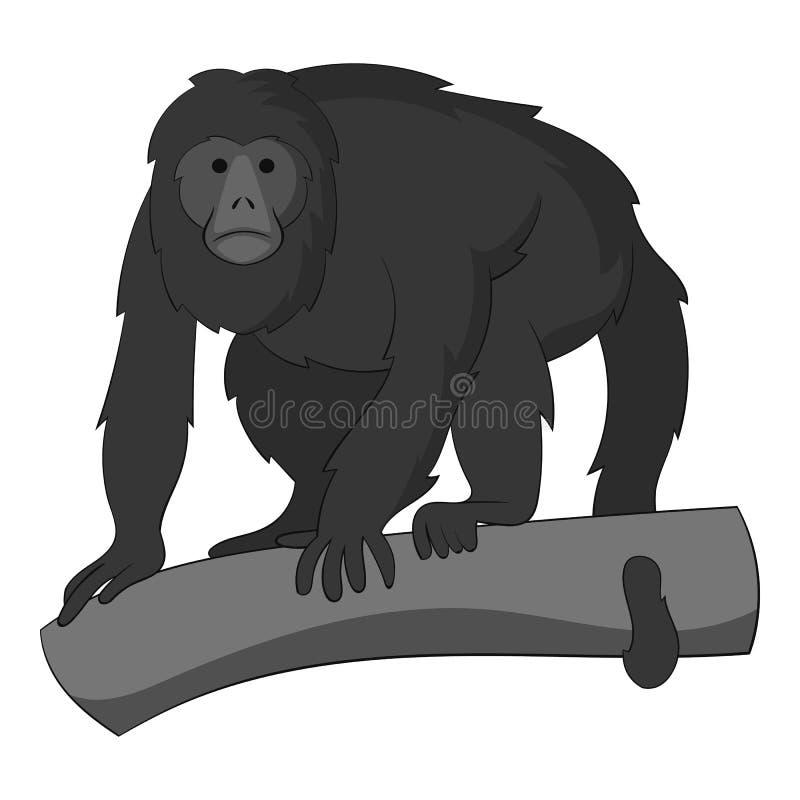 长臂猿象黑白照片 向量例证