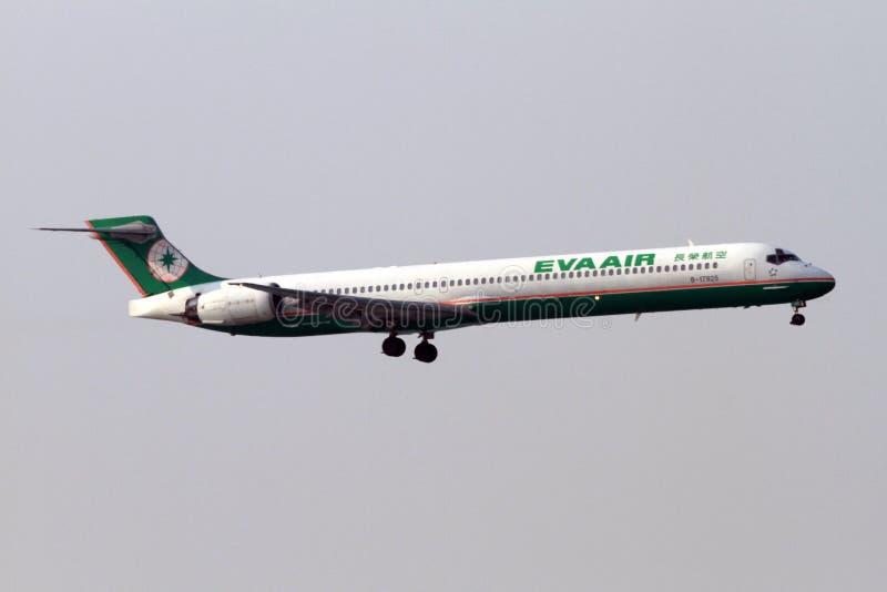 长荣航空飞机 免版税图库摄影
